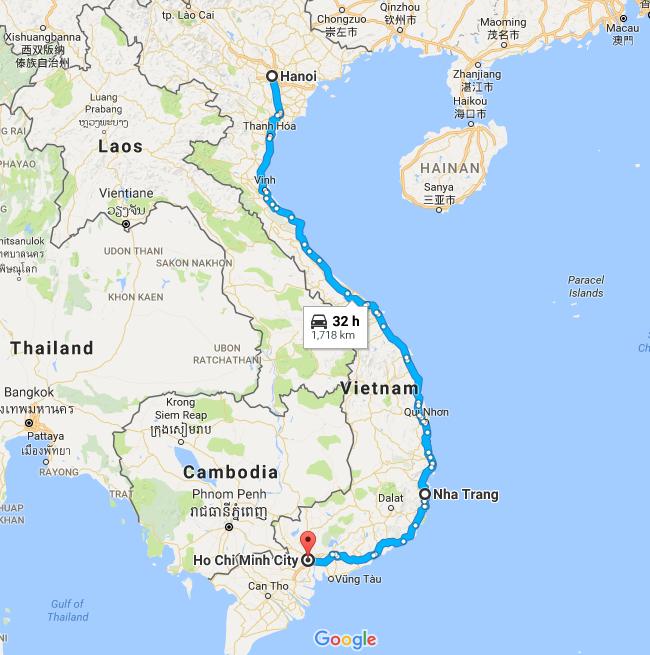 Caminho de Ho Chi Monh à Hanoi, passando por Nha Trang